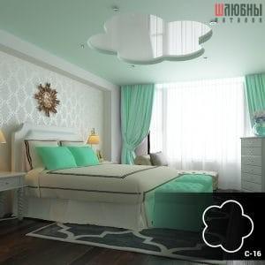Красивый двухуровневый потолок в гостиной